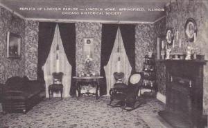 Illinois Springfield Replica Of Lincoln Home Chicago Historical Society