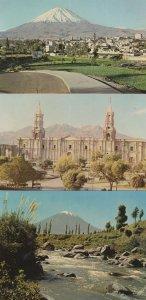 Arequipa Peru 3x Postcard s