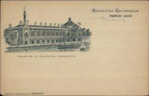 1900 Paris Universelle Expo Palais de la Navigation Commerciale Postcard