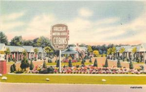 1940s Arcola Motor Lodge Paramus New Jersey Colorpicture Silk postcard 12628