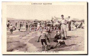Postcard Old Valras Plage L & # 39heure bath