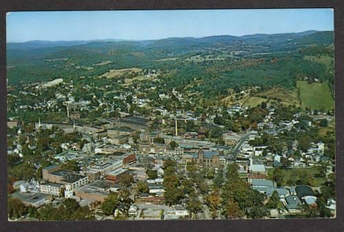 NEW HAMPSHIRE NH CLAREMONT Aerial View PC Postcard