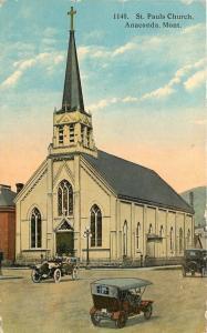 Anacona Montana~St Pauls Church~1910 PC