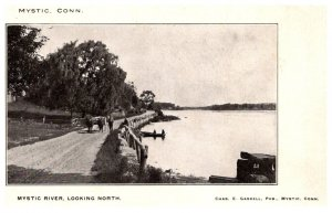 Connecticut Mystic River looking North  , private mailing card