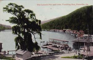 The Launch Pier And Lake Tumbling Run Pottsville Pennsylvania 1910