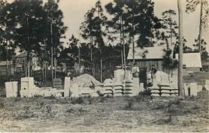 Workmen~Construction Project~Supplies Stacked Up~Wood Homes~1910 RPPC