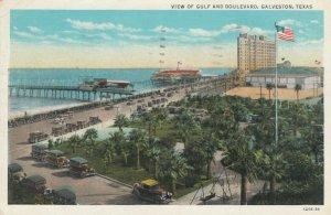GALVESTON , Texas, 1934 ; Gulf & Boulevard