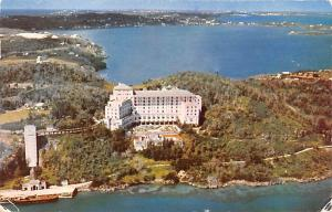 Bermuda, Somers Isles Aerial View of Castle Harbour Hotel, Harrington Sound  ...