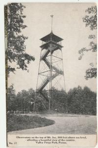 Observatory Tower on Mt Joy - Valley Forge PA, Pennsylvania - pm 1910 - DB