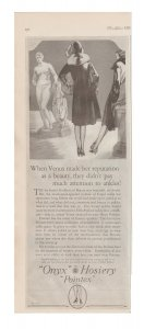 Onyx Hosiery Pointex 1927 Print Ad, Women in Seamed Stockings