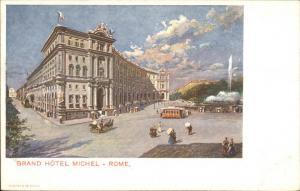 Rome Roma Grand Hotel Michel c1910 Postcard FINE LITHO EXC COND
