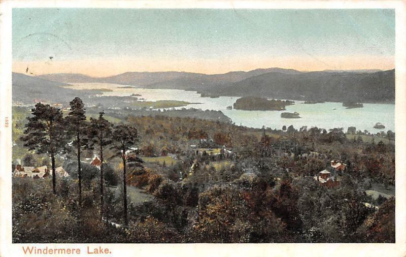 Windermere Lake Autochrom Pictorial Stationery 1905