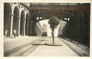 RPPC Postcard Viaduct Borges de Medeiros Porto Alegre, Rio Grande do Sul Brazil