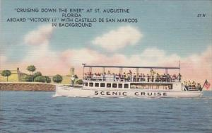 Florida Saint Augustine Cruising Down The River At Saint Augustine
