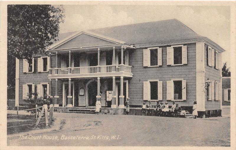 E58/ Foreign Postcard Carribean St Kitts West Indies The Court House c1910