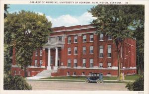 College Of Medicine University Of Vermont Burlington Vermont