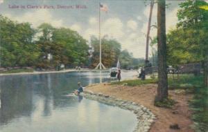 Michigan Detroit Lake In Clark's Park 1911