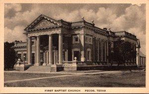 Texas Pecos First Baptist Church Albertype
