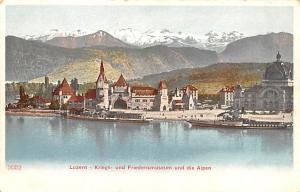 Switzerland Old Vintage Antique Post Card Luzern Kriegs Writing on back