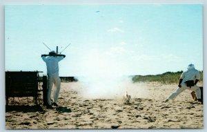 Postcard NJ Highlands Bad Drill Action Shot Gateway Rec Area Sandy Hook Unit U11