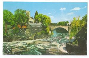 Keeseville NY Ausable River Keystone Arch Bridge 1973 Chrome