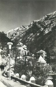 winter aspect Baile Herculane Romania Postcard