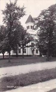 Wisconsin Shell Lake Court House 1947 Real Photo