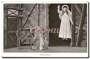 Old Postcard L & # 39annonciation (angel)