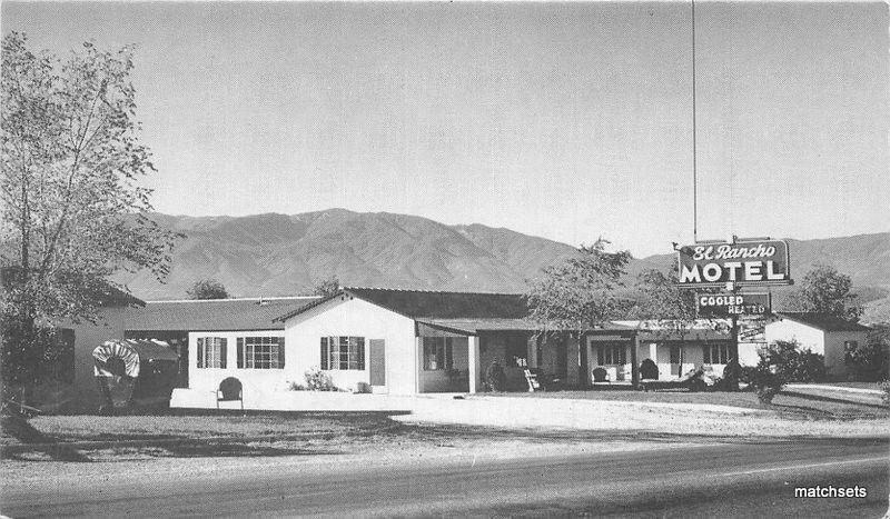 1940s El Rancho Motel GLOBE ARIZONA Postcard 12594