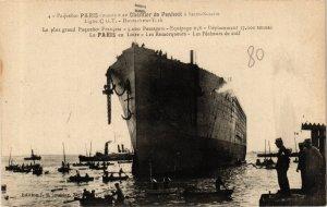 CPA ST-NAZAIRE Chantiers de Penhoet. Paquebot PARIS (864368)