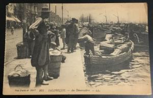 Postcard Unused Vise Paris no 2847 901 Salonique Au Debarcadere LL LB