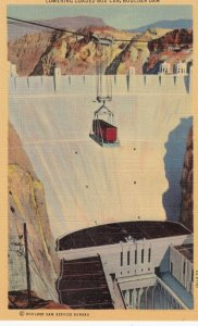 Boulder Dam , Nevada , 30-40s ; Lowering Loaded Box Car