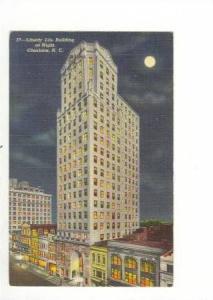 Liberty Life Building at Night, Charlotte, North Carolina, 30-40s