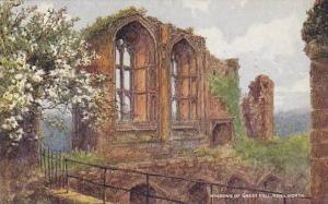 Windows Of Great Hall, Kenilworth (Warwickshire), England, UK, 1900-1910s