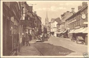 lincs, LOUTH, Eastgate, Tobacconist, Cars (1950s)
