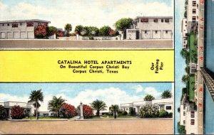 Texas Corpus Christi Catalina Hotel Apartments 1954