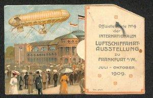 1909 Frankfurt Luftschiffahrts Pop-Up Balloon Ascension Mechanical Postcard