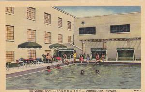 Nevada Winnemucca Swimming Pool At Sonoma Inn and Casino Curteich