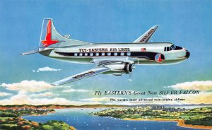 Fly Eastern's Great New Silver Falcon, Unused Postcard