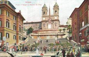Italy Roma Piazza di Spagna e Mercato dei Fiori 01.71