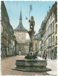 Switzerland, BERN Kramgasse und Zeitglockenturm, The Clock Tower Mini Photo Snap