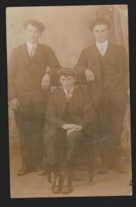 Photo Postcard Of 3 Young Men Circa 1900 - Unused