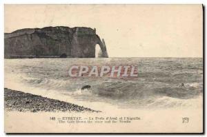 Old Postcard Etretat La Porte D & # & # 39aval and 39aiguille