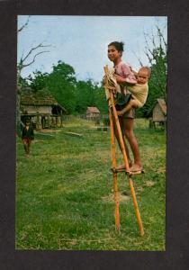 Vietnam Stilts Kontum Muntagard South Viet Nam Postcard Asian Asia Viet-Nam