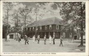 Wakefield MA Camp Plunkett Admin Bldg c1920 Postcard