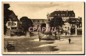Old Postcard Troyes The Monument Of Children From & # 39Aube