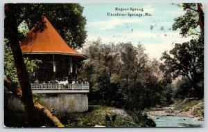 Excelsior Springs Missouri~Regent Spring~Gazebo~Creek~CE Wheelock & Co~1911