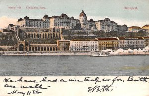 Kiralyi var, Konigliche Burg Budapest Republic of Hungary 1906