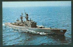 USS CALIFORNIA CGN 36 Nuclear Powered Missile Cruiser Military Ship Postcard