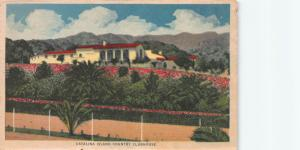 Catalina Island Country Clubhouse, California, Early Postcard, Used